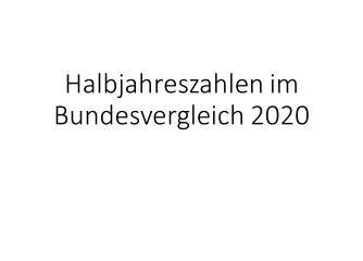 Halbjahresbilanz 2020