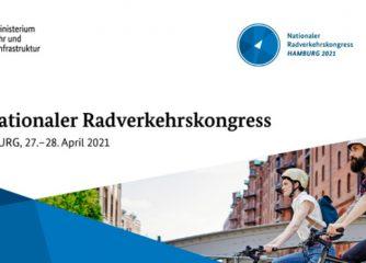 7. Nationalen Radverkehrskongress am 27. und 28. April 2021 aus Hamburg
