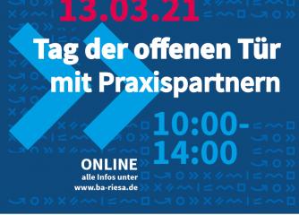 Digitaler Tag der offenen Tür mit Praxispartnern an der Staatlichen Studienakademie Riesa