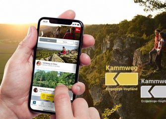 Digitale Wandernadel für den Kammweg Erzgebirge-Vogtland