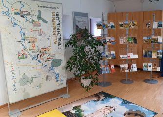 Weitere Maßnahme zur Sichtbarmachung der Dachmarke Dresden Elbland in den Tourist-Informationen umgesetzt