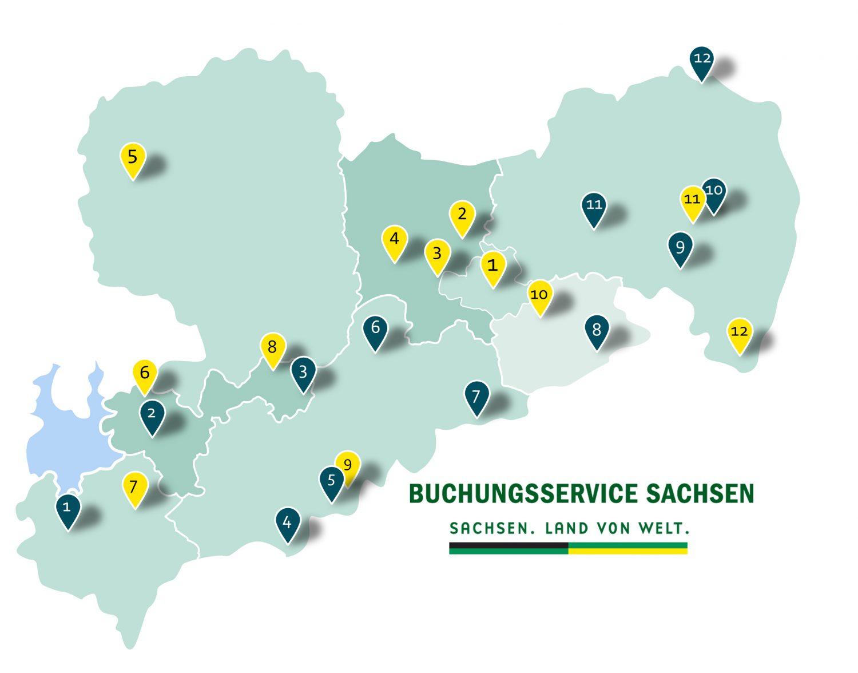 Buchungsstellen in Sachsen